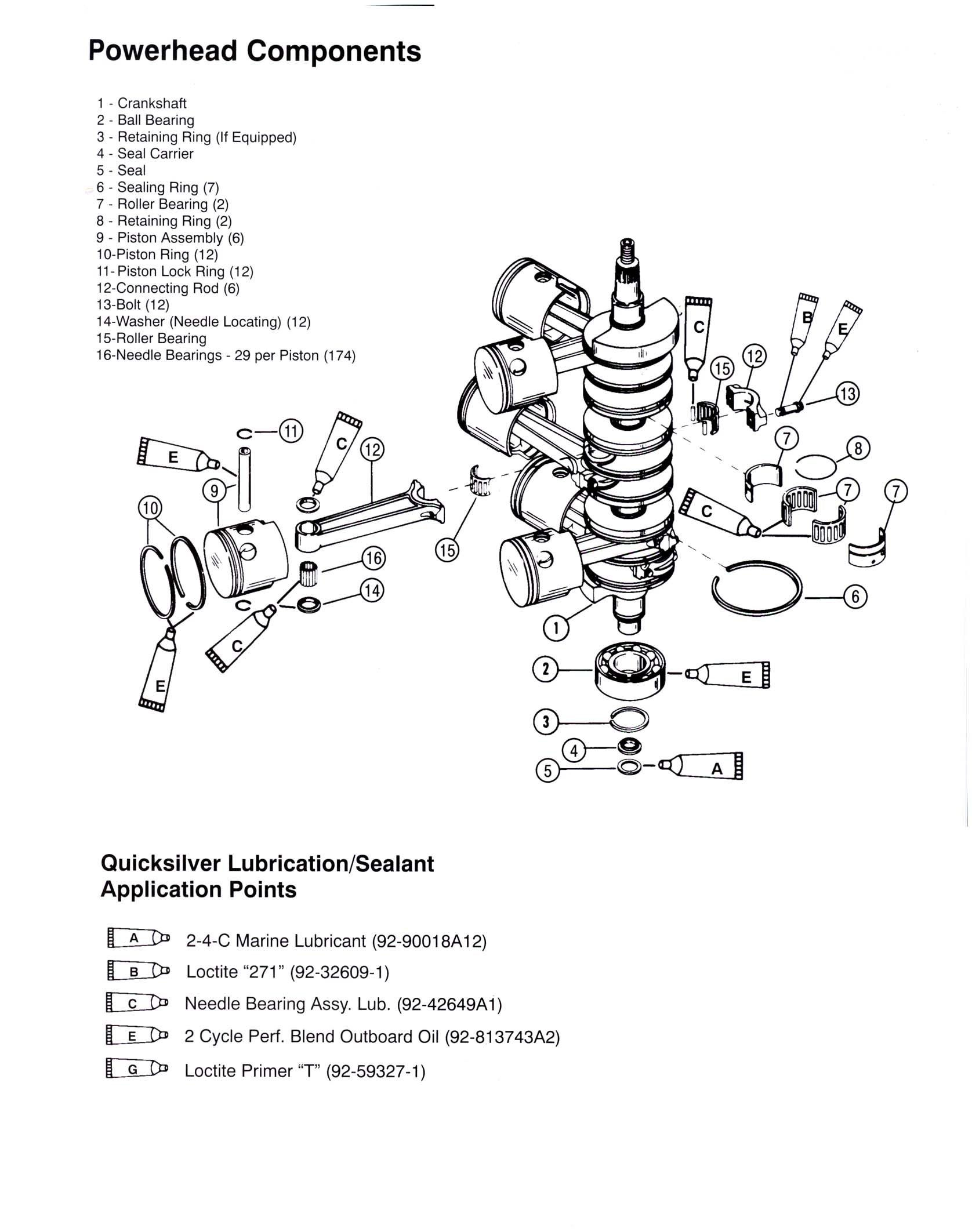 Mercury Outboard 25 And 30l V6 Gearcase Faq 1990 454 Efi Electrical Diagram Assembly Lubes